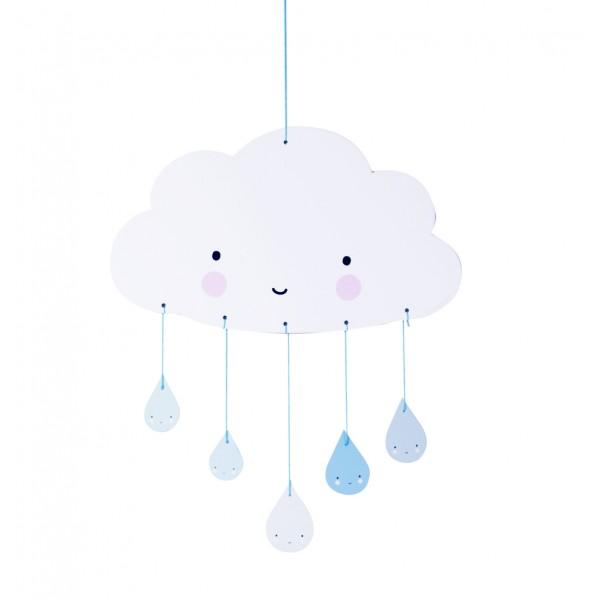 Kolotoč nad postieľku - Blue cloud A Little Lovely Company A Little Lovely Company