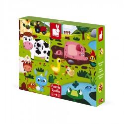 Dotykové puzzle - Zvieratká na farme Janod