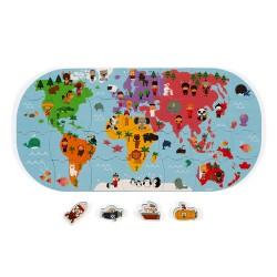Puzzle do vody 28 ks - Mapa sveta Janod