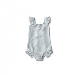 Detské dievčenské plavky Tanna Sea blue stripe - Liewood