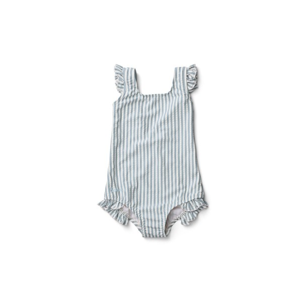 Detské dievčenské plavky Tanna Sea blue stripe - Liewood Liewood