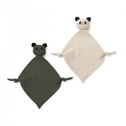 Set mojkáčikov Panda - hunter green/sandy Liewood
