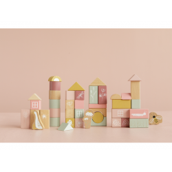 Box s kockami – pink Little Dutch