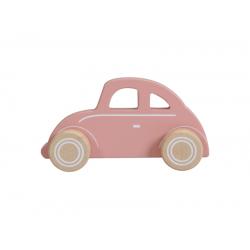 Drevené autíčko chrobák - pink Little Dutch