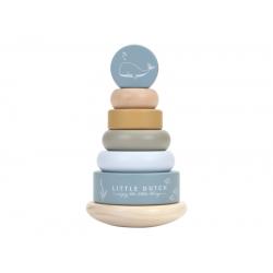 Drevené nasadzovacie krúžky – blue ocean Little Dutch