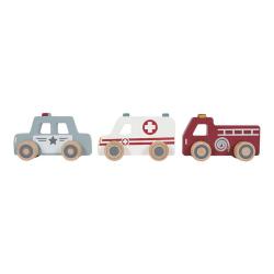 Drevené záchranárske autíčka Little Dutch