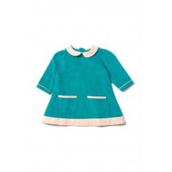 Šaty pre dievčatá - Peacock Blue Little Green Radicals - Výpredaj
