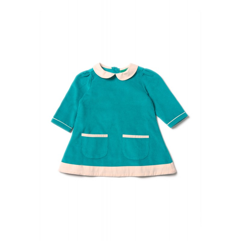 33d833425921 -50% Šaty pre dievčatá - Peacock Blue Little Green Radicals - Výpredaj