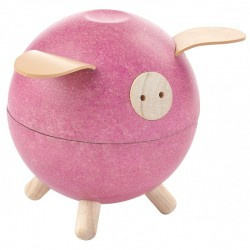 Pokladnička - Ružové prasiatko PlanToys