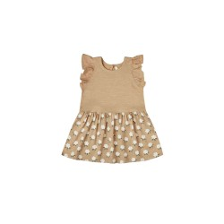Detské šaty White flora coury - Almond Rylee and Cru